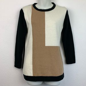 Sag Harbor Color Block Sweater Women's Small